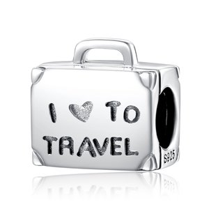 Talisman din argint I Love To Travel
