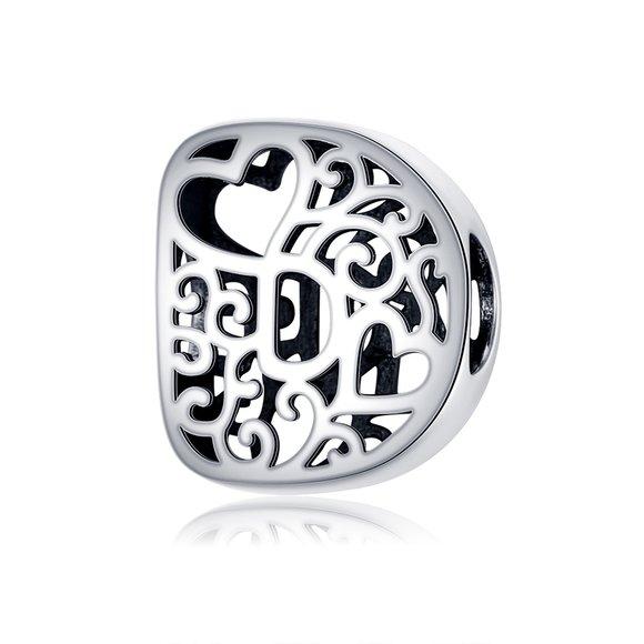 Talisman din argint In Love with Letter D