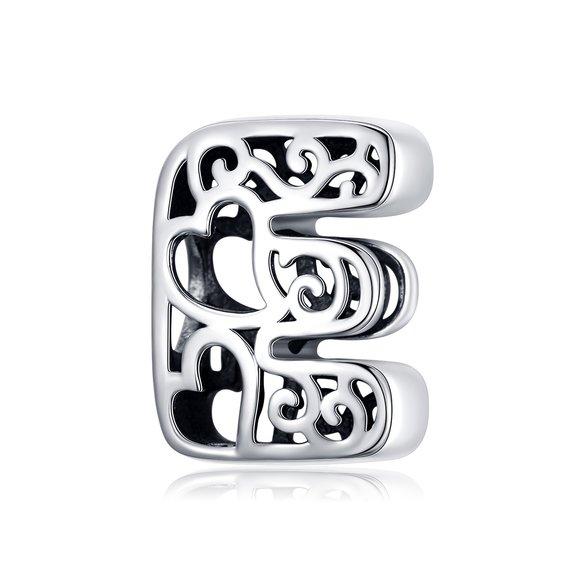 Talisman din argint In Love with Letter E