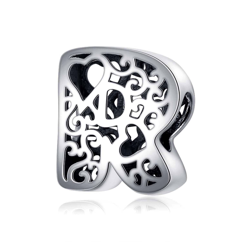 Talisman din argint In Love with Letter R poza 2021