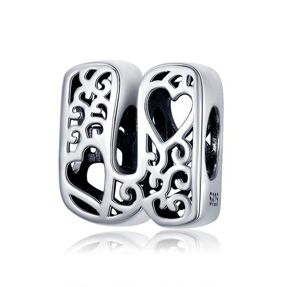 Talisman din argint In Love with Letter U