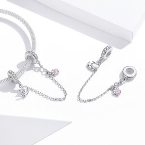 Talisman din argint Lovely Kitty Safety Chain