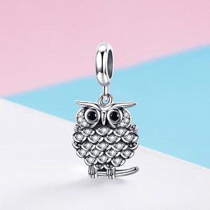 Talisman din argint Lovely Owl