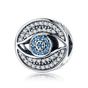 Talisman din argint Lucky Blue Eye