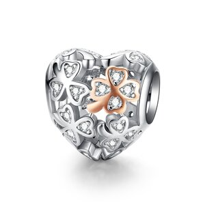 Talisman din argint Lucky Clover in my Heart