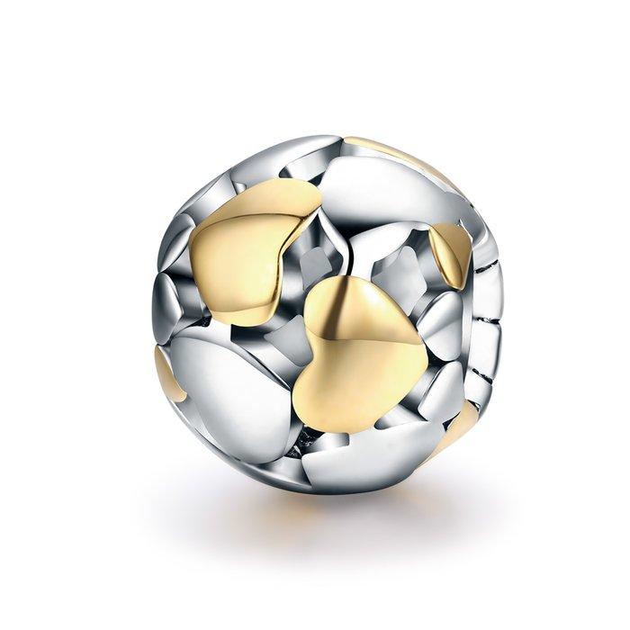 Talisman din argint Luminous Hearts