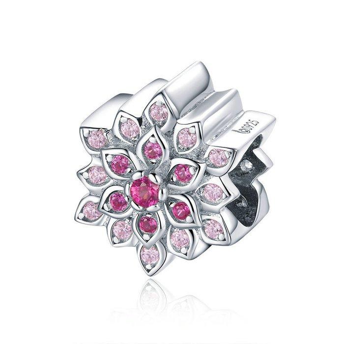 Talisman din argint Luminous Pink Lotus poza 2021