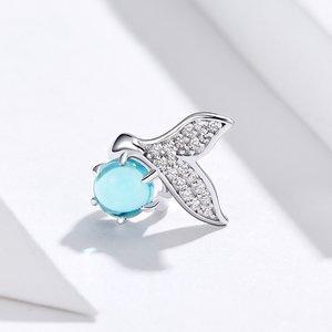 Talisman din argint Mermaid's Blue Stone