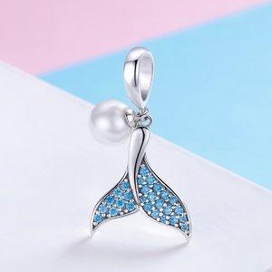 Talisman din argint Mermaid's Tale Pearl