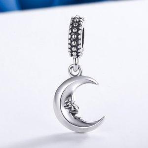 Talisman din argint Mr Moon Smile