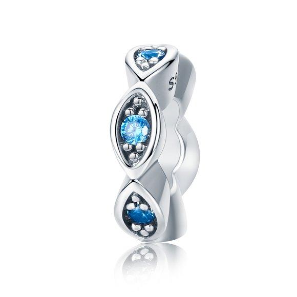 Talisman din argint Ocean Blue Crystals