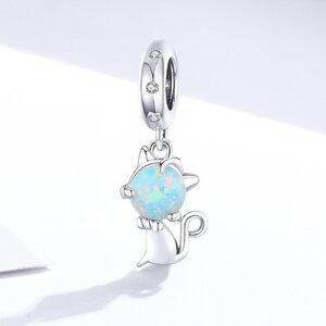 Talisman din argint Opal Cat