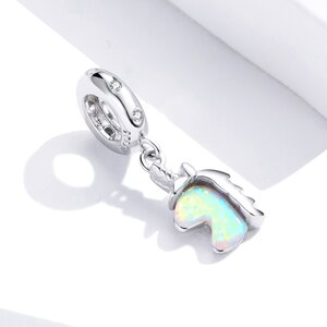 Talisman din argint Opal Unicorn
