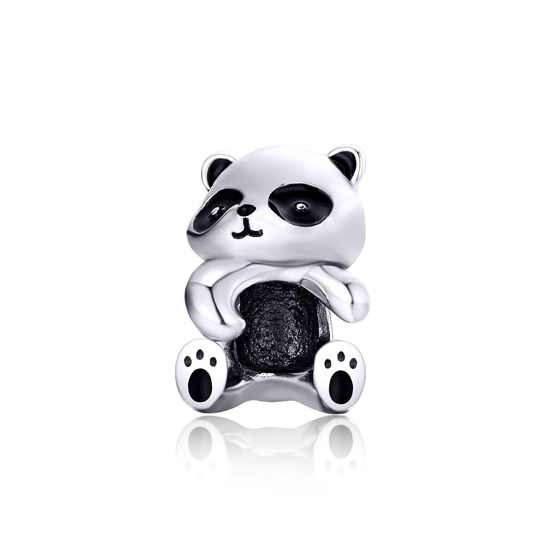 Talisman din argint Panda Hug