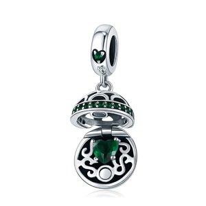 Talisman din argint Pandora's Box green