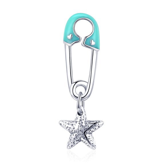 Talisman din argint Paperclip Star