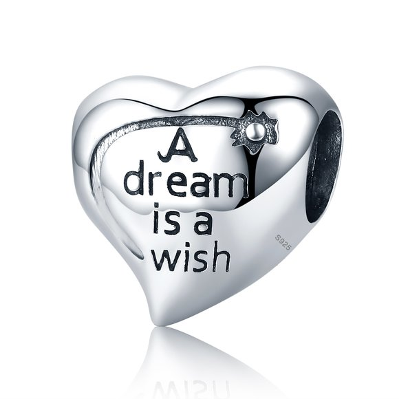 Talisman din argint patinat A dream is a Wish
