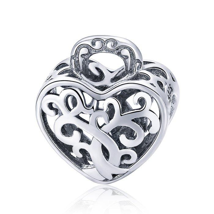 Talisman din argint Pave Tree Heart