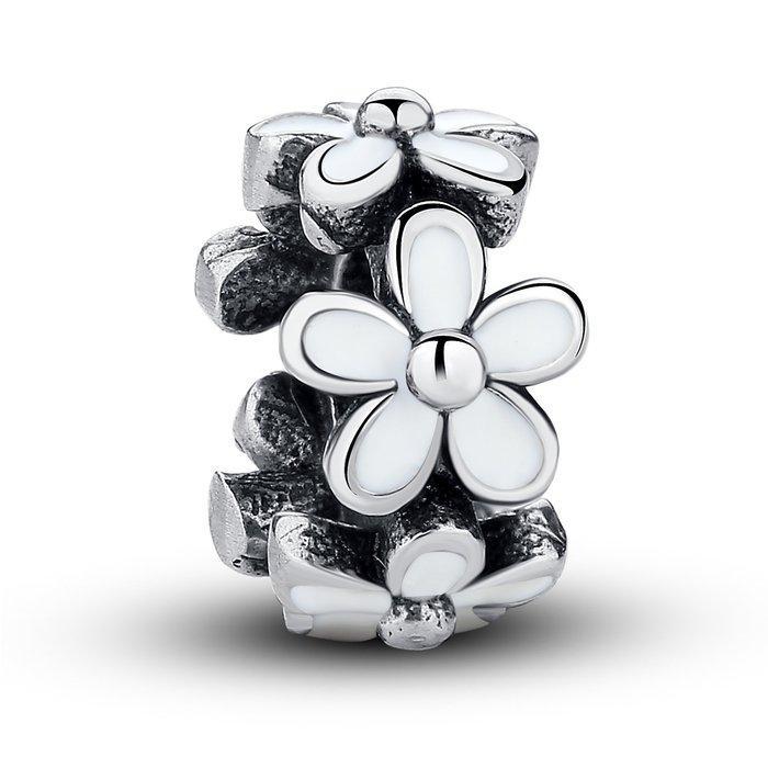 Talisman din argint pentru spatiere cu Floricele Albe