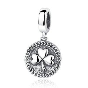 Talisman din argint pentru spatiere cu Trifoi Norocos