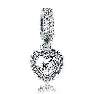 Talisman din argint pentru spatiere Dragostea Mamei