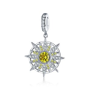 Talisman din argint Perfect Crystal Sun
