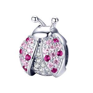 Talisman din argint Pink Ladybug