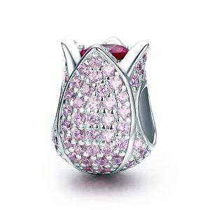 Talisman din argint Pink Tulip