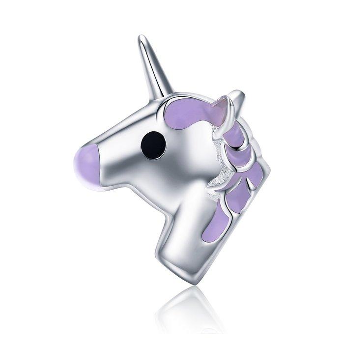 Talisman din argint Purple Unicorn