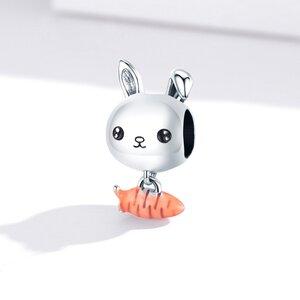 Talisman din argint Rabbit and Carrot