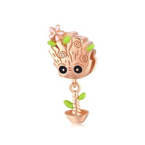 Talisman din argint Rose Gold Cute Treant