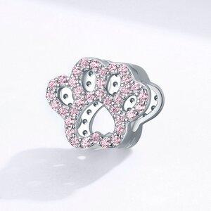 Talisman din argint Shiny Pink Paw