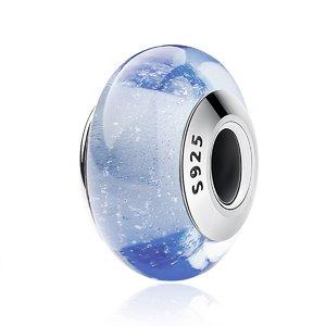 Talisman din argint si sticla Albastra