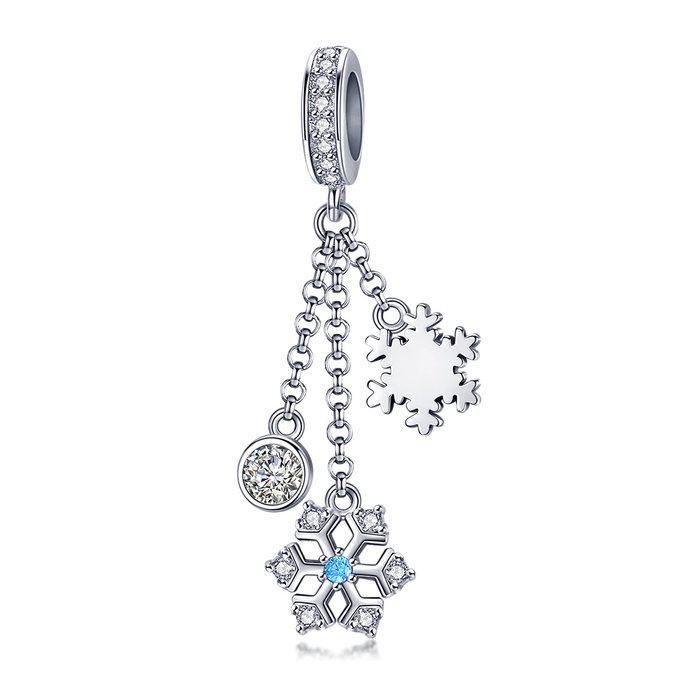 Talisman din argint Silver Snowflake Trio poza 2021