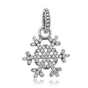 Talisman din argint Silver Winter Snowflake