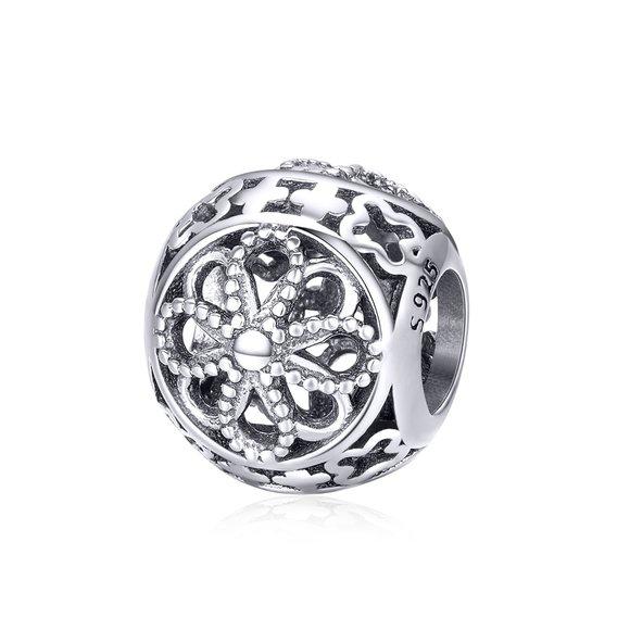 Talisman din argint Simple Flower