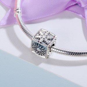 Talisman din argint Snowflake Cube