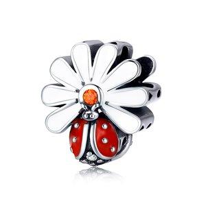 Talisman din argint Spring Ladybug
