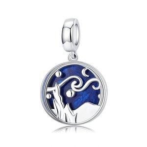 Talisman din argint Starry Blue Night