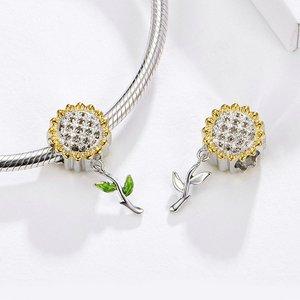 Talisman din argint Sunflower