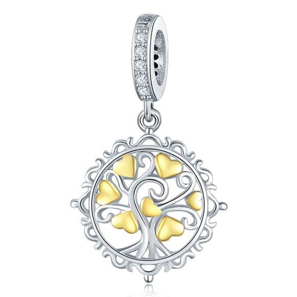 Talisman din argint Tree of Hearts
