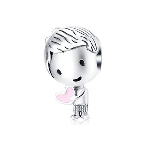 Talisman din argint Valentine Boy