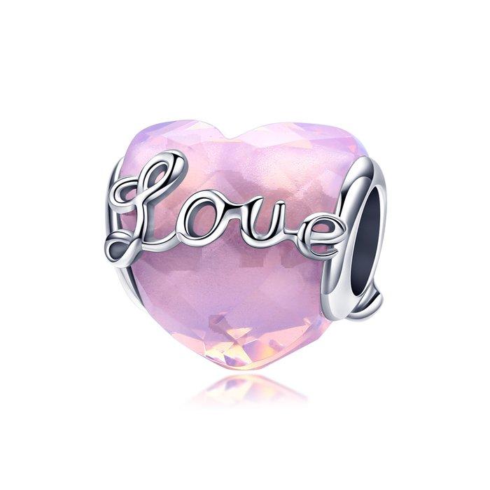 Talisman din argint Valentine Love