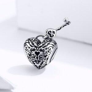 Talisman din argint Vintage Heart and Key