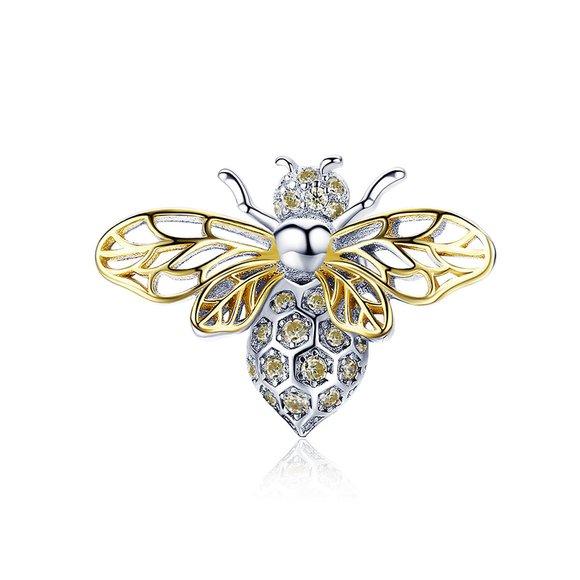 Talisman din argint Yellow Bee