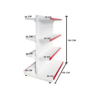 RAFT METAL RM 13-EC Înălțime-160, Lățime-100cm, Bază:40
