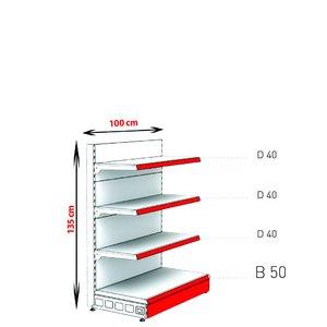 RAFTURI METAL CAPAT GONDOLA  Înălțime-135, Lățime-100cm