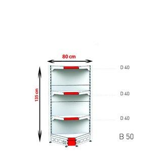 RAFTURI METAL RM-02 COLT INTERIOR Înălțime-135 cm