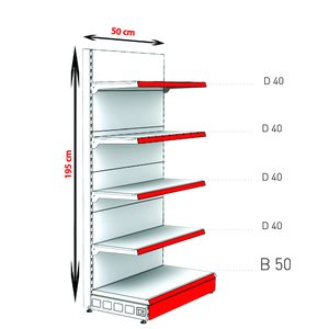 RAFTURI METAL RM-02 Înălțime-195, Lățime-50cm