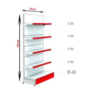 RAFTURI METAL RM-02 Înălțime-195, Lățime-70 cm, Bază:40